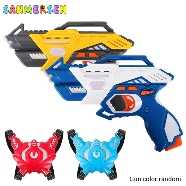 Electric Laser Tag Infrared Toy Guns Weapon Blaster Pistola Laser Battle Kit Interaction Games for Boys Indoor Outdoor Sports