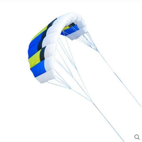 free shipping dual line Parafoil kites flying rainbow Sports Beach stunt kite with handle ripstop nylon outdoor kitesurf power