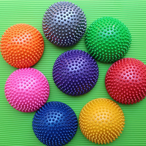 8Pcs/Set Children Hemisphere Stepping Stones Durian Spiky Massage Outdoor Balance Ball Feet Sensory Integration Balance Toys