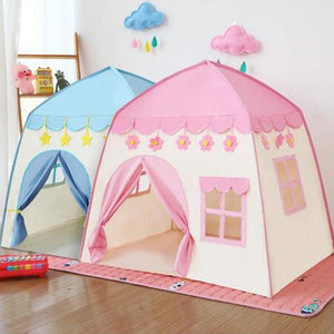 New Kids Indoor Outdoor Castle Tent Baby Princess Game House Flowers Blossoming Boy Girl Oversized House play Folding mats Gifts