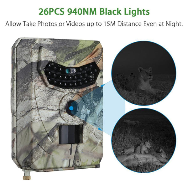 Hunting Camera Photo Trap 12MP Wildlife Trail Night Video Trail Thermal Imager Video Cameras for Hunting Scouting Game