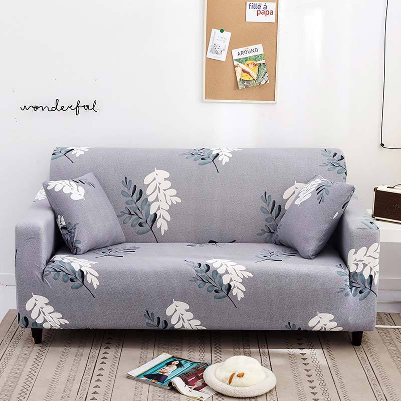 Drop Shipping Stretch Slipcovers Sectional Elastic Universal Spandex Sofa Cover Gray Color for Couch Armchair 1/2/3 seater