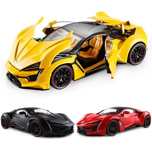 1:32 1:24 Lykan Hypersport Fenyr Die Cast Alloy Car Model Collectibles Boy Birthday Present Children's Toy Car Free Shipping