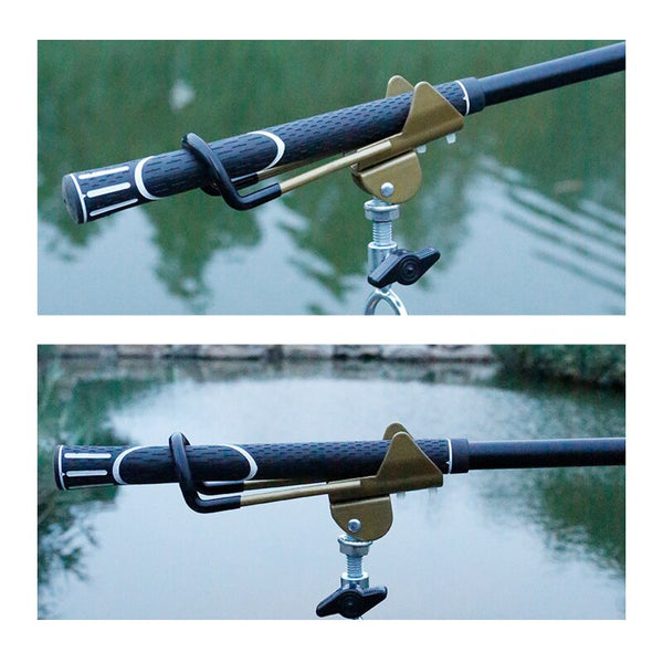 Adjustable Stainless Steel Fishing Rod Stand Gold Metal Handle Support Holder for Telescopic Handle Rod High Quality