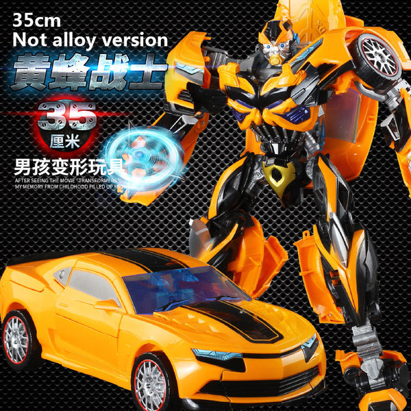 35CM Transformation Toys Robot Series Anime Wasp Warrior Toy Plastic ABS Alloy Robot Car Boy Toys Gifts