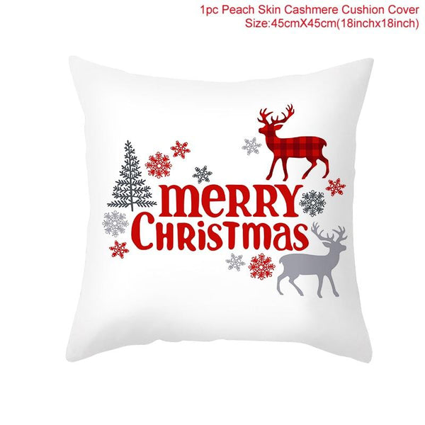 Merry Christmas Decorations For Home Santa Claus Snowflake Tree Cushion Cover 2020 Christmas Ornaments Gifts Natal New Year 2021