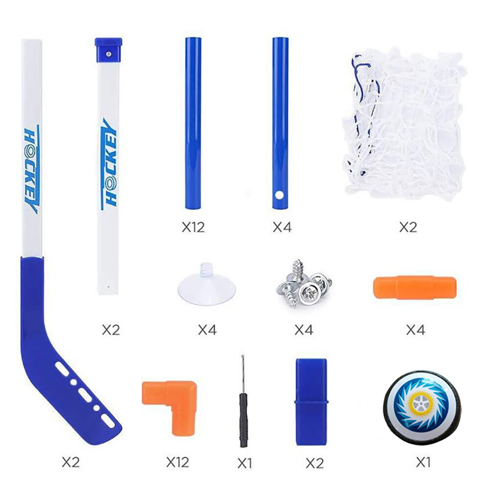 Ice Hockey Stick Set Hover Football Double Door Flashing Indoor Sport Game Boy Interactive Electric Educational Toy for children