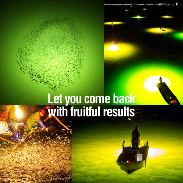 DONQL 12V Fishing Light 108 LED Bead Underwater Fish Light Lure Fish Attracts Prawn Squid Krill Summer Night Fishing Finder Lamp