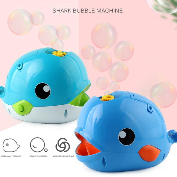 Electric Bubble Machine Automatic Cartoon Blue Whale Bubble Maker Bubble Blower Toy For Kids Boys Girls Age Of 4,5,6 And Above