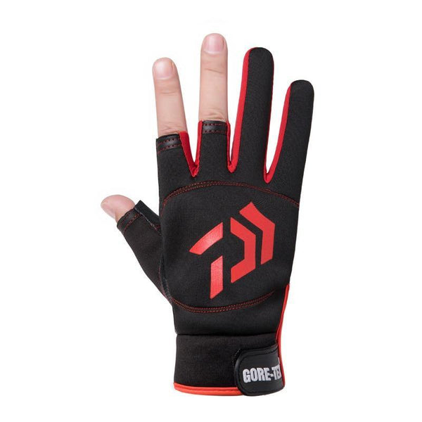 1 Pair Daiwa Fishing Gloves Half Finger Men Women Outdoor Fishing Anti-slip 3 Cut Finger Sports Equipment Angling SBR Gloves