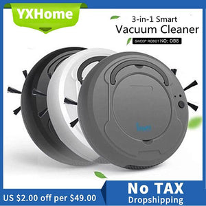 3-In-1 Multifunctional Auto Smart Robot Floor Cleaner Rechargeable Dry Wet Mop Sweeping Vacuum Cleaner Strong Suction Home Clean