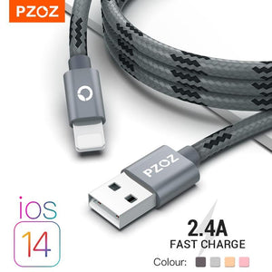 PZOZ Usb Cable For iphone cable 11 pro max Xs Xr X SE 2 8 7 6 plus 6s 5s ipad air mini 4 fast charging cables For iphone charger