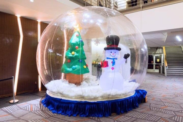 Free shipping, Giant Snow Globe for Christmas Decoration, Photo Snow Globe Inflatable,Commercial Quality Human Size Snow Globe