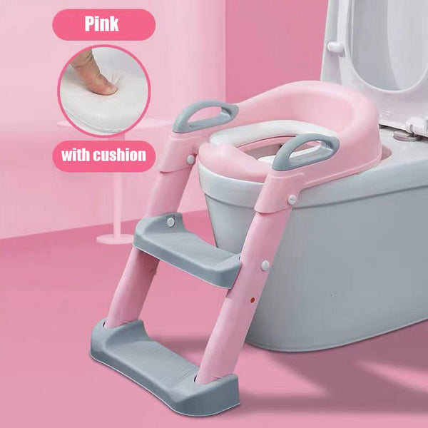 Toilet Seat Potty Training Seat Urinal for Boys Folding Chair Stool Staircase Toilet Ladder for Baby Toddler Girl Safe Potties