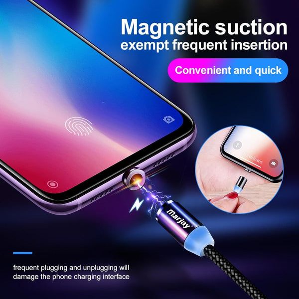 Marjay Magnetic Micro USB Cable For iPhone Samsung Android Fast Charging Magnet Charger USB Type C Cable Mobile Phone Cord Wire