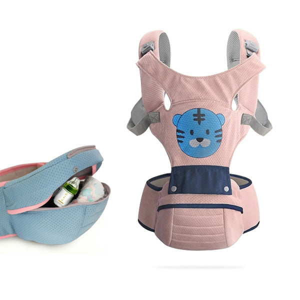 Ergonomic Baby Carrier Infant Kid Baby Hipseat Sling Front Facing Kangaroo Baby Wrap Carrier for Baby Travel 0-36 Months