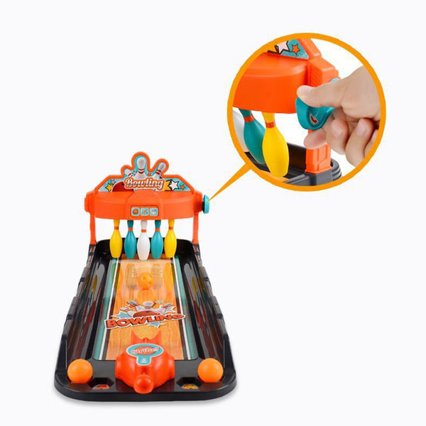 Children Tabletop Mini Bowling Game Desktop Bowling Ball Shooting Toy Training Toy For Children Educational Toys Birthday Gift