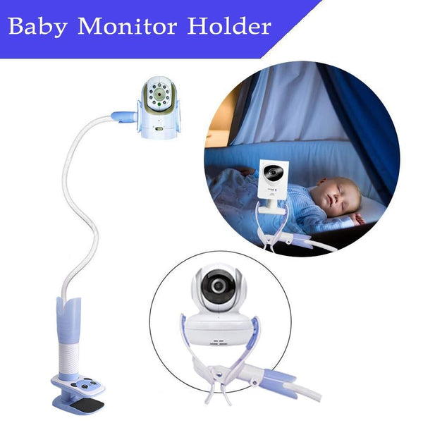 Baby Monitor Holder Camera Multifunction Universal Phone Video Monitor Stand Lazy Cradle Long Arm Adjustable Wall Mount Shelf