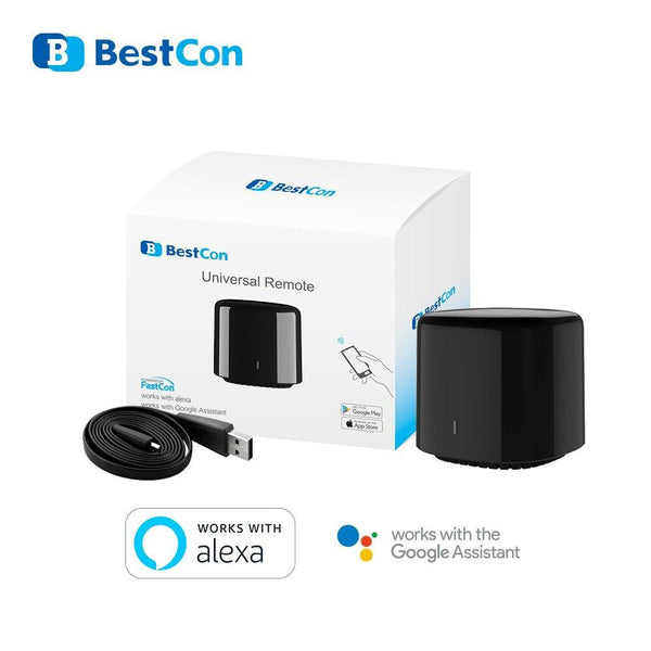 Broadlink RM4 C Mini BestCon WiFi IR Remote Controller Smart Home Automation Compatible Alexa amazon Google Home mini Assistant