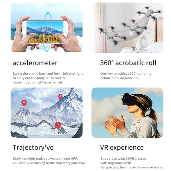 Teeggi M73 RC Drone WiFi FPV Quadcopter Drone with 480P/4K HD Camera Drone Foldable Drones Toy Mini Dron VS E68 E61 SG106 XS816