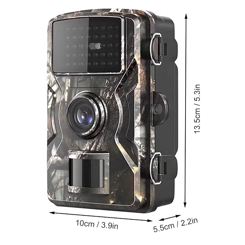 12MP 1080P Trail Hunting Camera Wildcamera Wild Surveillance 2''  TFT Night Vision Wildlife Scouting Cameras Photo Traps Track (Black)