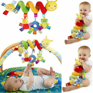 Cute Activity Musical Spiral Crib Stroller Car Seat Travel Hanging Toys Baby Boys Girls Rattles Toy