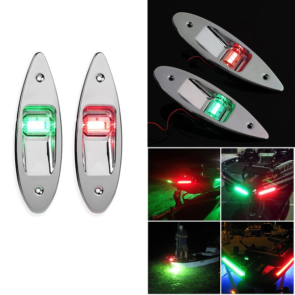 1pair Boat Signal Lamp Navigation Lights Waterproof Anti-Collision Plastic Dustproof Exterior Parts Marine Boat Indicator Lamps