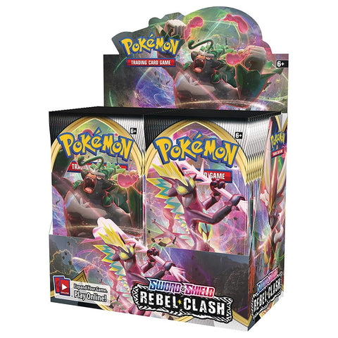 324Pcs Pokemon Cards TCG: Sword & Shield Rebel Clash Booster Box Collectible Trading Card Game 2020 Newest Kids Toys