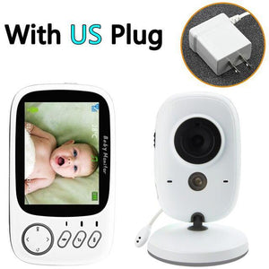 Wireless Video Two-way voice Baby Monitor 3.2 inch High Resolution Baby Nanny Security Camera Night Vision Temperature Monitor