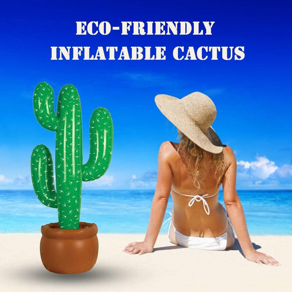 Inflatable Cactus Blow Up Kid Toy Birthday Balloons Summer Pool Party Decor Cactus Tree Inflatable Cactus Prop Inflatable Toys