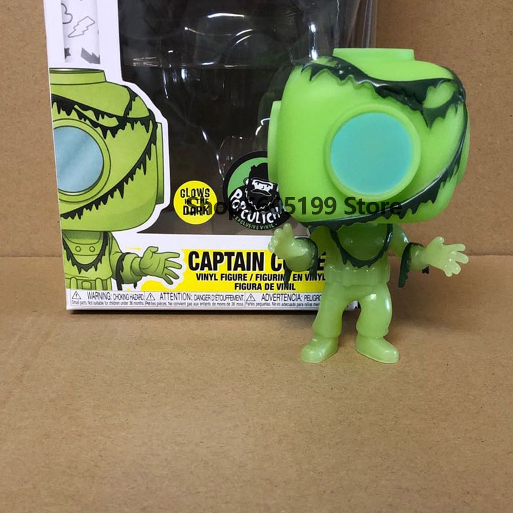 POP  NEW Scooby-Doo CAPTAIN CUTLER  #632 glows in the dark  with box Action Figure Collectible Model toys for chlidren (632 WITHBOX)