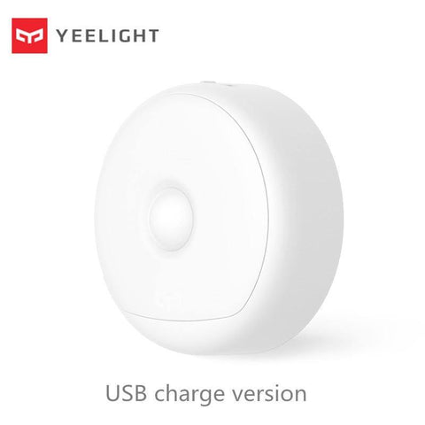 (USB ReCharge ) Yeelight LED Night Light Infrared Magnetic with hooks remote Body Motion Sensor For Smart Home