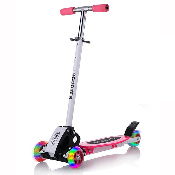 Infant Shining Kids Scooter Outdoor Toy Baby Bike Safety Kick Scooter Folding Flash Wheels Scooter for Kids