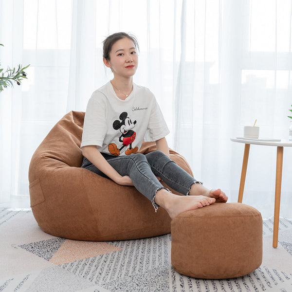 Large Classic Lazy Bean Bag Chair Sofa Seat Covers Indoor Gaming Adult Storage Bag Baby Seat Sofa Protector