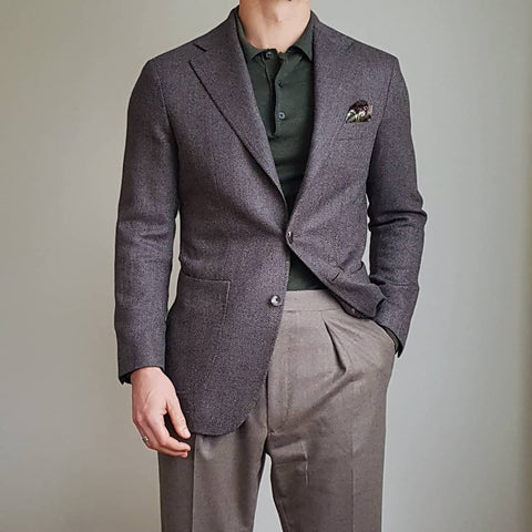 51 Style Talk - Linus Norrbom in Brown Herringbone Tweed Jacket with Taupe Flannel Trousers