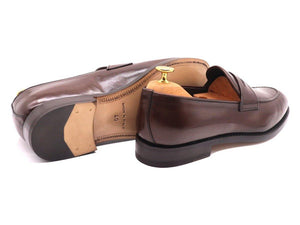 Back_View_Of_Dejon_Dark_Brown_Leather_Penny_Loafers
