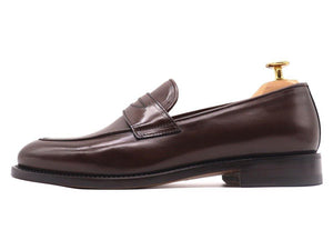 Side_View_Of_Dejon_Dark_Brown_Leather_Penny_Loafers