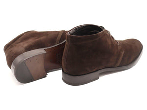 Mens Dark Brown Suede Chukka Boots