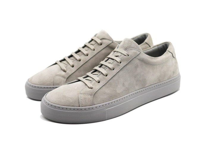 Mens Suede Low Top Shale Grey Sneakers