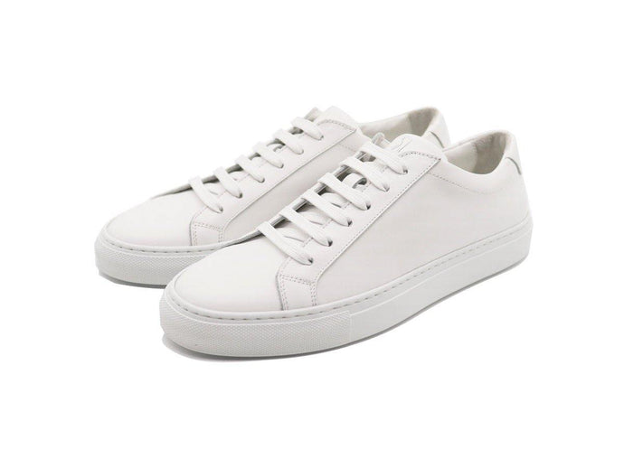 Womens Leather Low Top White Sneakers