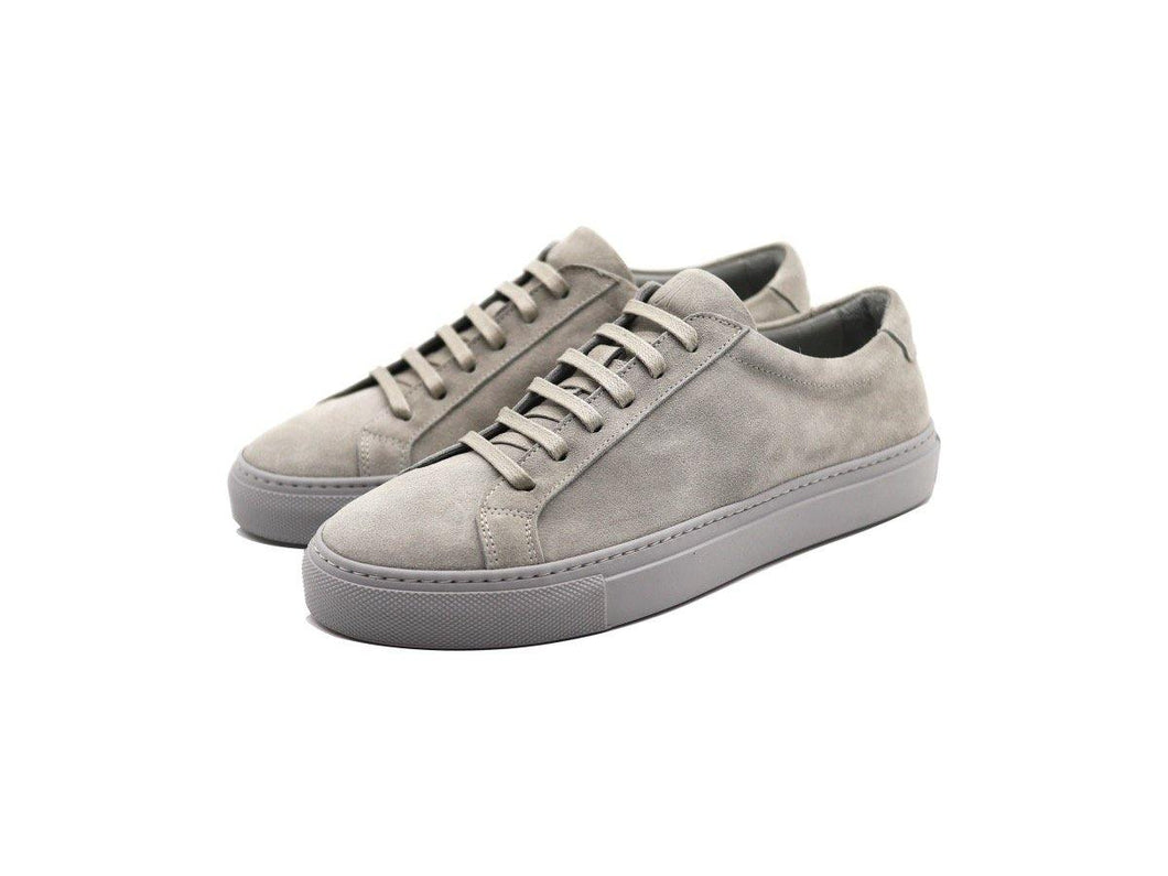 Womens Suede Low Top Shale Grey Sneakers