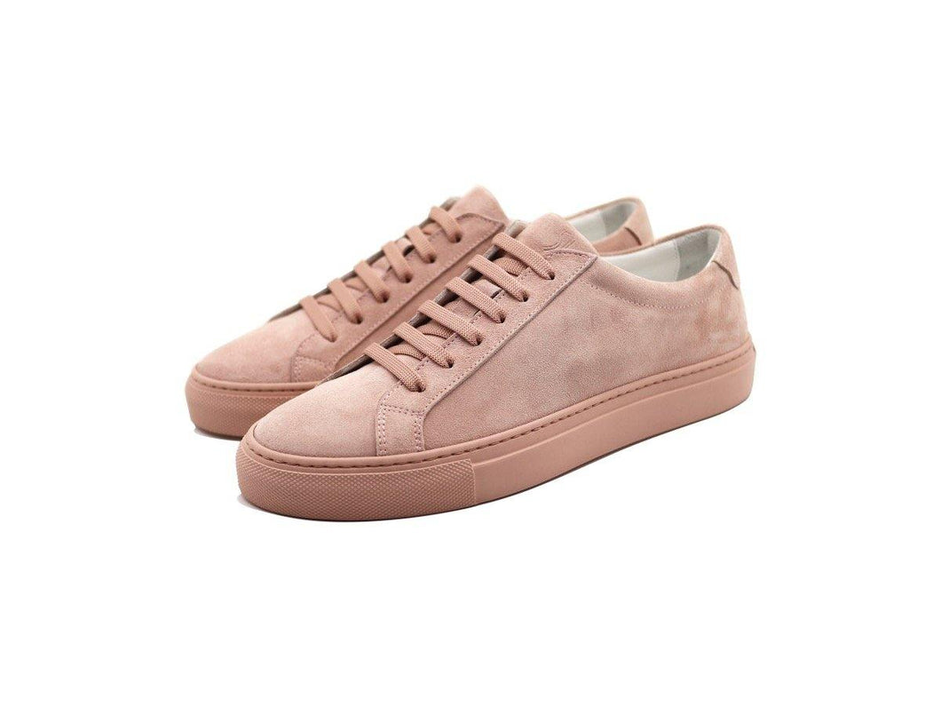 Womens Suede Low Top Skin Pink Sneakers