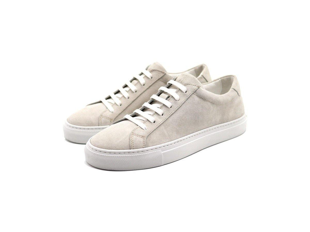 Womens Suede Low Top Yogurt White Sneakers
