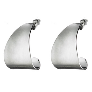 Stainless Steel Flat Curved Earrings