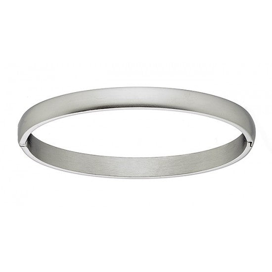 Stainless Steel Oval Shaped Mat Bracelet