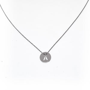 Personalised Sterling Silver Colander Monogram Necklace