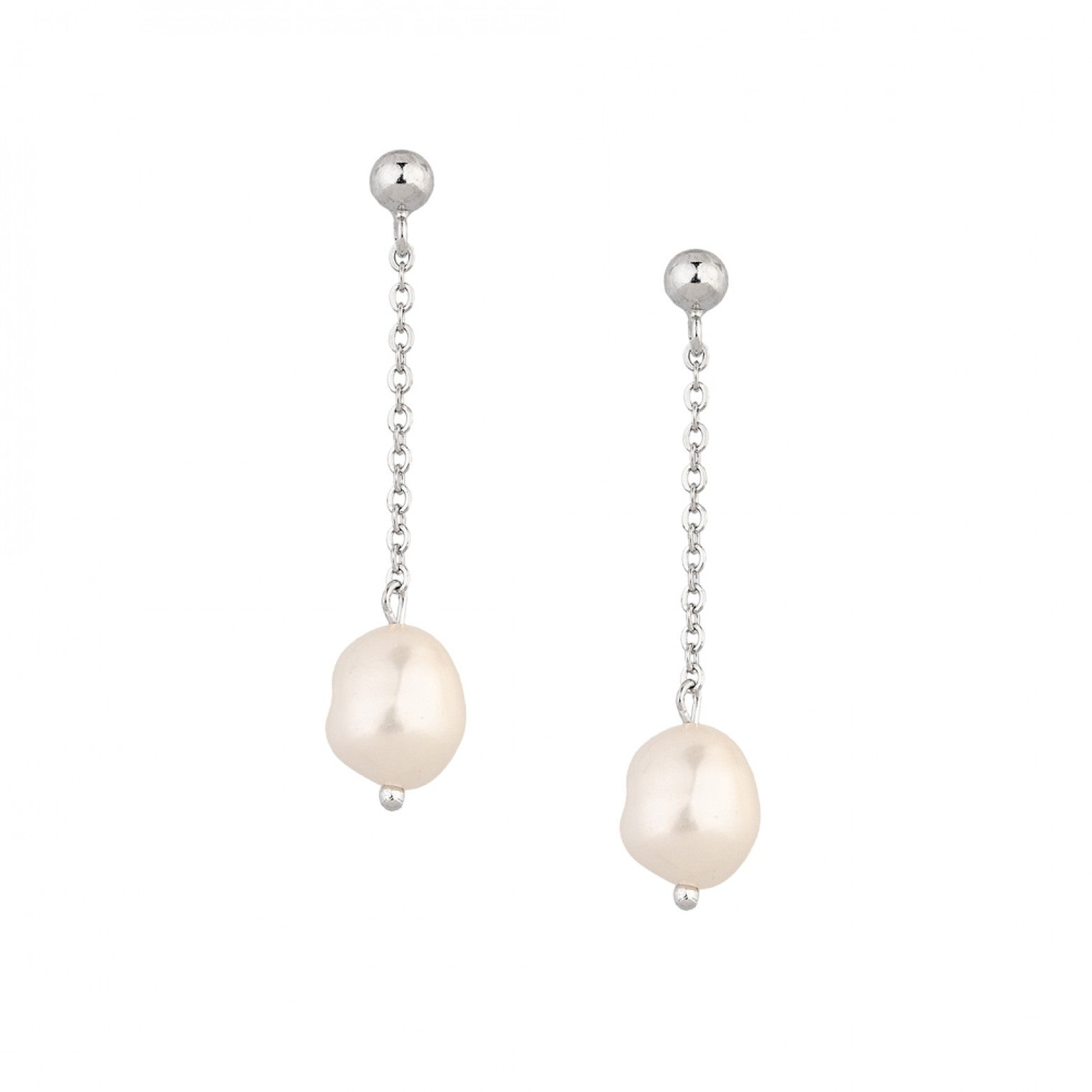 Sterling Silver 925o Hanging Pearls