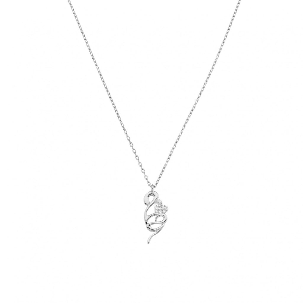 Sterling Silver 925o Heart Lucky Chatm Necklace