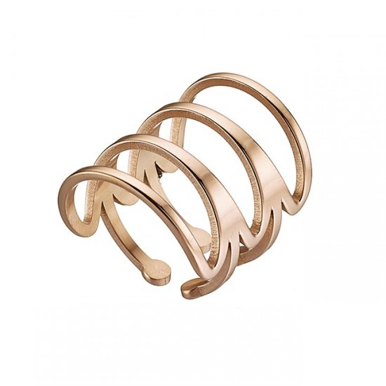 Stainless steel 4 lines ring