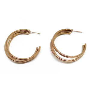 Stainless steel Triple Hoops